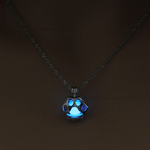 Running Horse Locket Cage Glowing in the Dark Animal Pendant Necklace